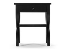 Leila Bedside Table, Black