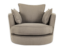 Leon Swivel Love Seat, Mink Grey