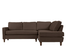 Lugano Right Hand Facing Corner Sofa Group, Mocha Brown