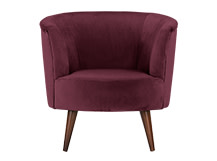 Lulu Scoop Chair, Bruges Burgundy