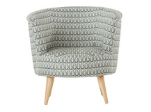 Lulu Scoop Chair, Drop Weave