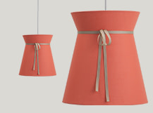 Madame Pendant Light, Peach and Taupe