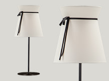 Madame Table Lamp, White and Black