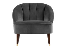 Margot Accent Chair, Pewter Grey Velvet