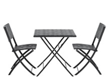 Maui Outdoor Bistro Set, Black