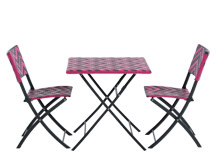 Maui Outdoor Bistro Set, Pink