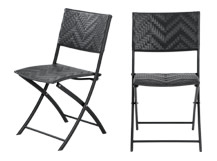 2 x Maui Outdoor Bistro Chairs, Black