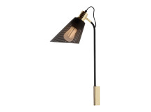 Memoir Wall Lamp and Plumen 002 Bulb, Matt Black and Polished Brass