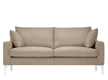 Mendini 2 Seater Sofa, Soft Taupe