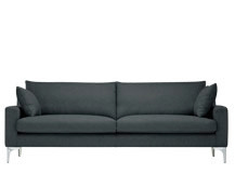 Mendini 3 Seater Sofa, Anthracite Grey