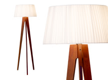Miller Floor Lamp, Walnut and Navy