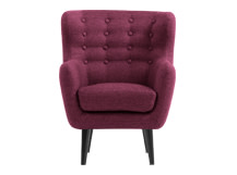 Mini Kubrick Armchair, Plum Purple