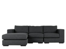 Mortimer 4 Seater Modular Corner Sofa, Shadow Grey