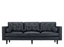 Nielsen 3 Seater Sofa, Black Premium Leather