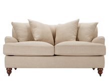 Orson Scatter Back 2 Seater Sofa, Biscuit Beige