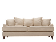 Orson Scatter Back 3 Seater Sofa, Biscuit Beige