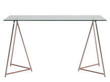 Patrizia Desk, Copper and Glass