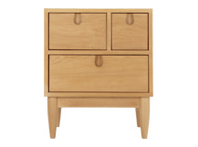 Penn Multi-Drawer Bedside Table, Oak