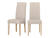 2 x Pye Dining Chairs, Putty Beige