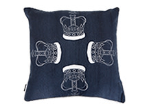 Regal Square Scatter Cushion 45 x 45cm, Prussian Blue