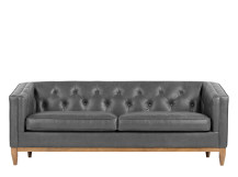 Rogers 3 Seater Sofa, Oxford Grey Premium Leather