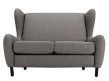 Rubens 2 Seater Sofa, Nickel Grey Wool Mix