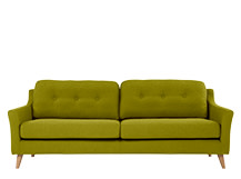Rufus 3 Seater Sofa, Leaf Green