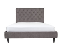 Skye Kingsize Bed, Pewter