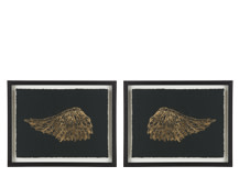 2 x Wings Gilt Framed Prints, 30 x 40cm, Limited Edition by Coup D'Esprit, Gold and Black