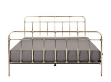 Starke Kingsize Bed, Brass