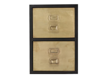 Stow Filing Cabinet 2 drawers, Vintage Brass