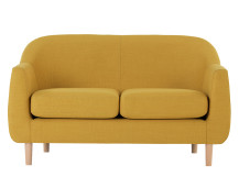 Tubby 2 Seater Sofa, Retro Yellow