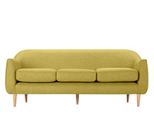 Tubby 3 Seater Sofa, Citrus Green