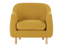 Tubby Armchair, Retro Yellow