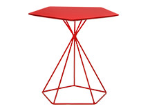 Geo Side Table, Red