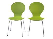 2 x Kitsch Dining Chairs, Meadow Green
