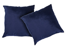 2 x Barton Velvet Scatter Cushions 45 x 45cm, Dusty Blue