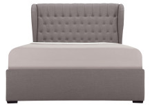 Bergerac Double Bed with Storage, Graphite Grey