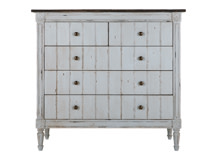 Bourbon Vintage Chest of Drawers, Distressed Grey