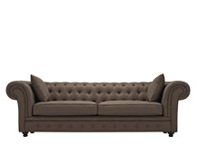 Branagh 3 Seater Chesterfield Sofa, Nutty Brown