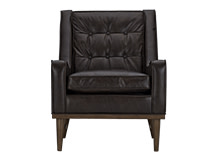 Scott Retro Armchair, Vintage Brown Premium Leather