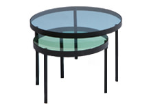 Chroma Nesting Coffee Table, Blue and Green