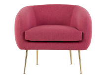 Dinky Accent Chair, Scarlet Pink