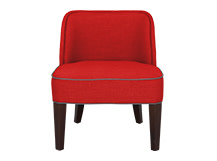 Doble Chair, Tudor Red and Graphite Grey