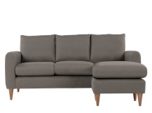 Gaia 3 Seater Chaise End Sofa, Dove Grey