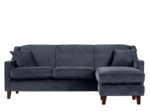 Halston Large Corner Sofa, Midnight Blue