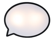 Hollywood Speech Bubble Wall Lamp, Textured Black