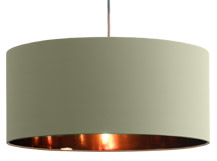 Hue Pendant Shade, Desert Sage and Copper