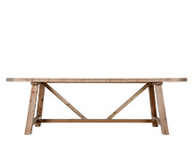 Iona Dining Table, Solid Wood