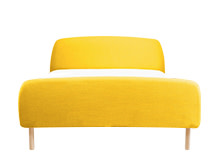 Jonah Double Bed With Footboard, Dandelion Yellow